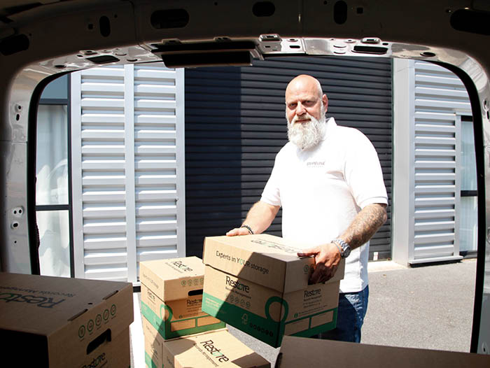 Nigel making a International delivery
