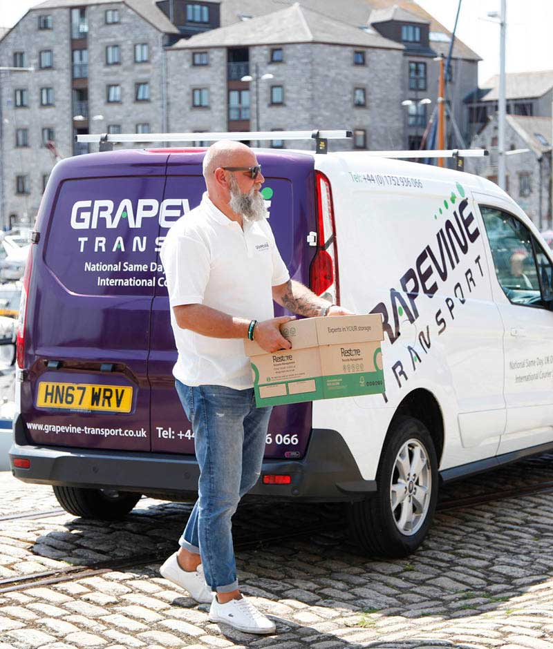 Nigel making a national same day delivery