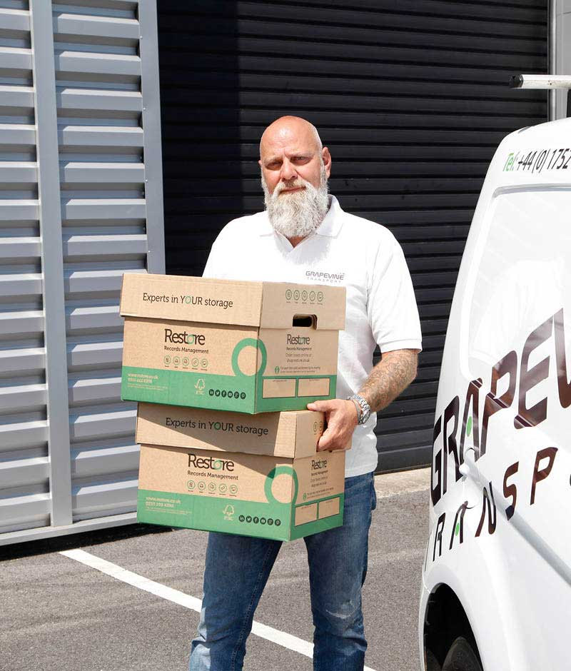 Nigel making a UK overnight delivery